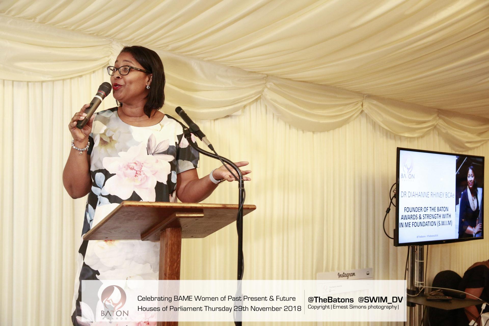 The Baton Awards Founder, Dr Diahanne Rhiney BCAe